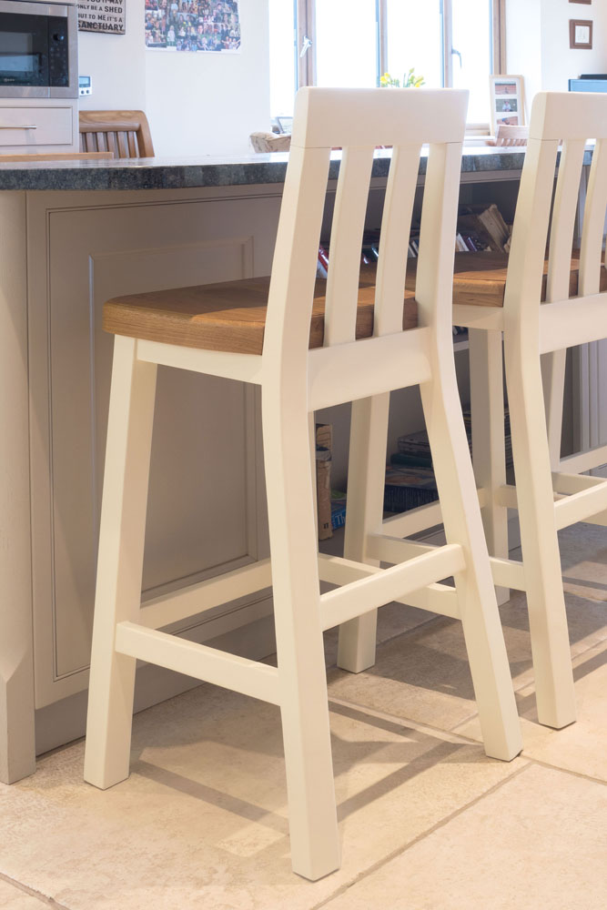 Cream Painted Tall Kitchen Stool Billy Free Delivery Top Furniture