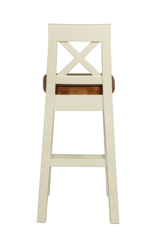 Phenomenal Billy Cross Back Cream Painted Bar Stool Oak Seat Black Friday Sale Caraccident5 Cool Chair Designs And Ideas Caraccident5Info