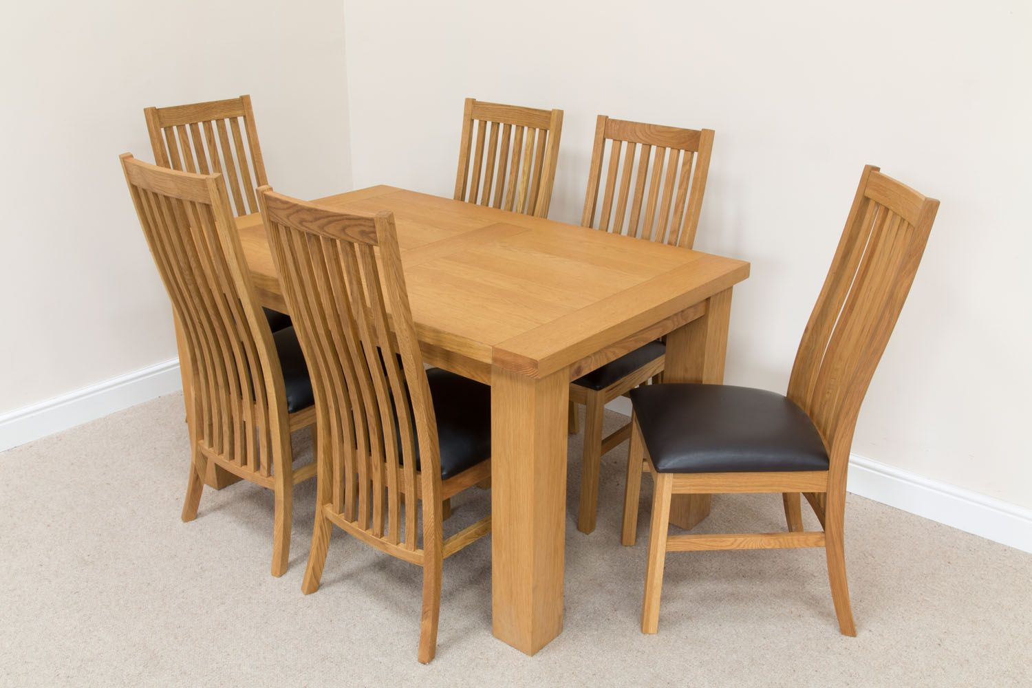 Cheap oak dining set 6 seater oak dining set
