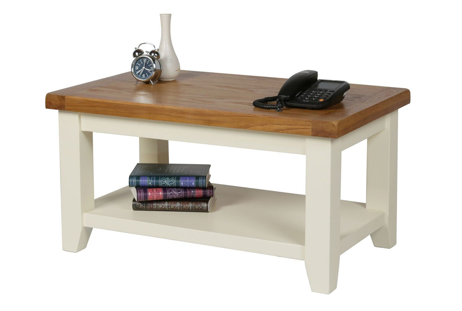 - Country Oak Cream Painted Coffee Table