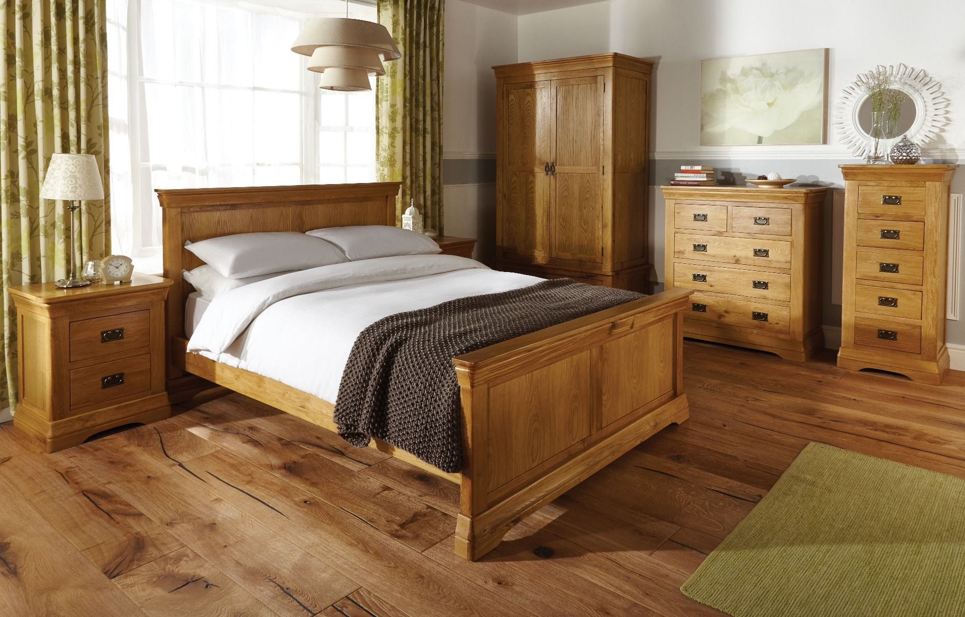 Farmhouse Country Oak Double Bed 11ft 11 inches - WINTER SALE