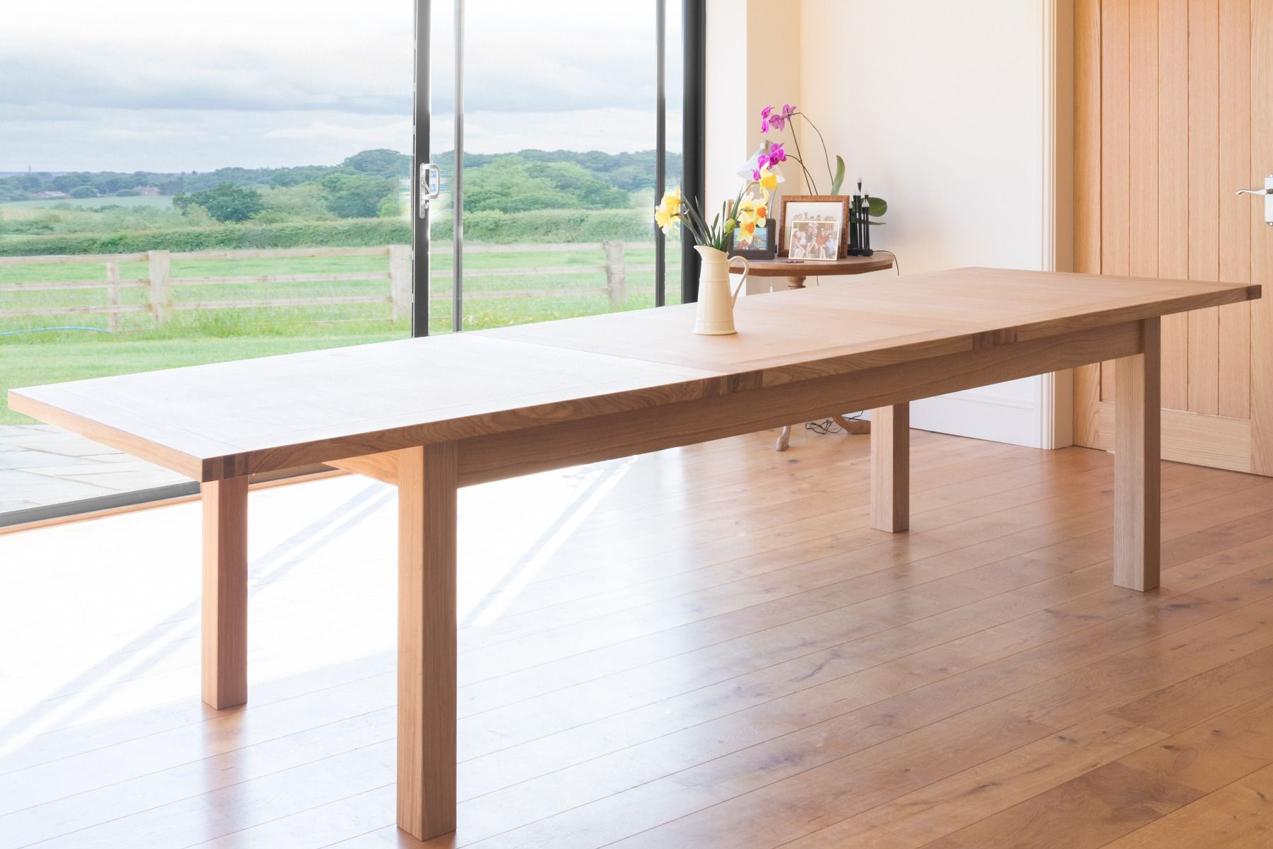 Picture of: Large 12 14 Seater Oak Extending Dining Table Tallinn Free Delivery Top Furniture
