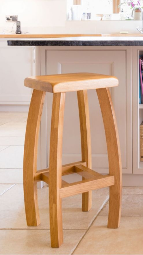 Stupendous Bali Solid Oak Kitchen Stool Autumn Sale Caraccident5 Cool Chair Designs And Ideas Caraccident5Info