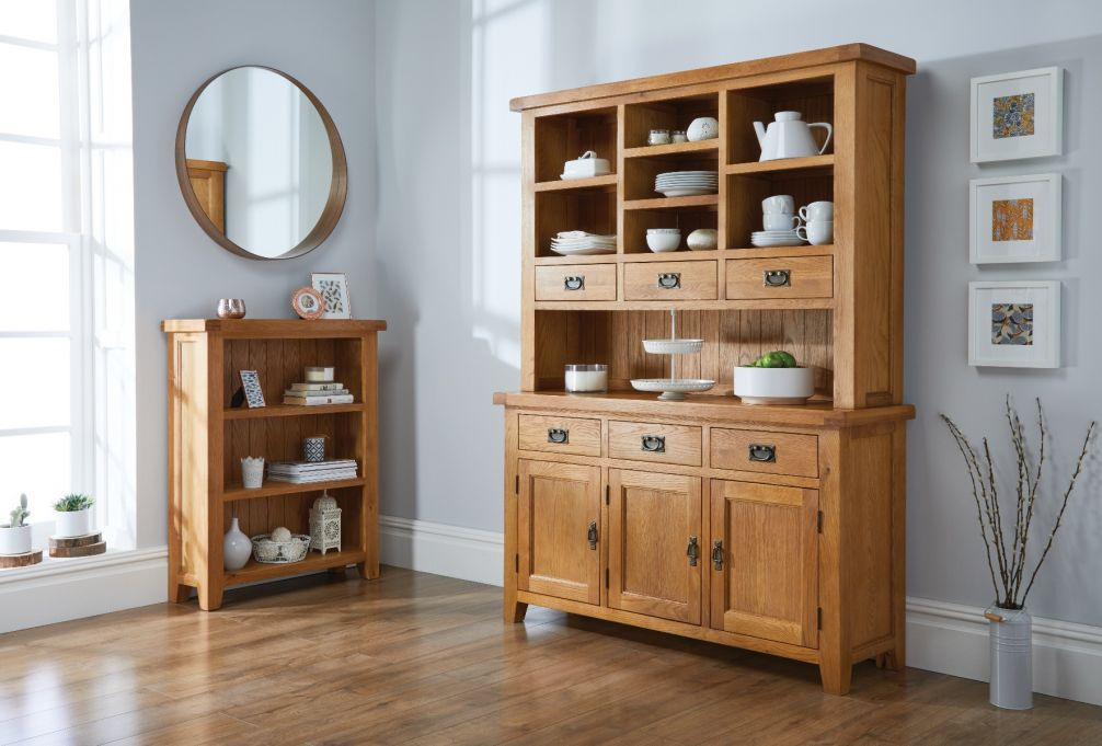 Remarkable Country Oak Large Buffet And Hutch Display Cabinet Dresser Summer Sale Home Interior And Landscaping Analalmasignezvosmurscom