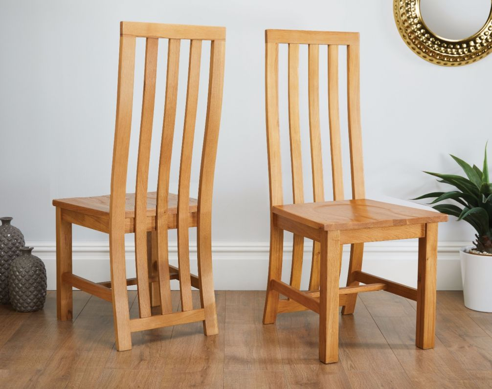 Dorchester Slatted Back Timber Seat Oak Dining Chair