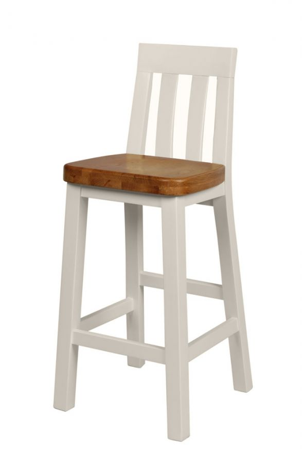 Cool Billy Grey Painted Bar Stool With Solid Oak Seat Black Friday Sale Ibusinesslaw Wood Chair Design Ideas Ibusinesslaworg