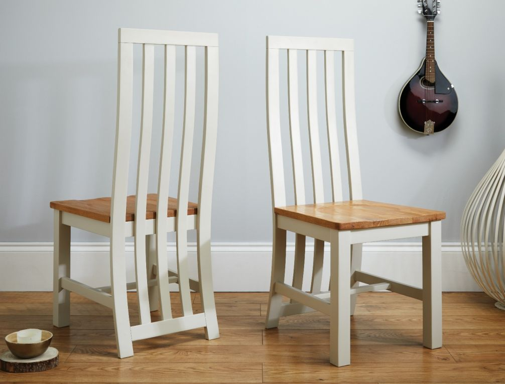 online store f0fcd 1b366 Country Oak 180cm Grey Painted Extending Dining Table and 4 Dorchester Grey  Painted Chairs