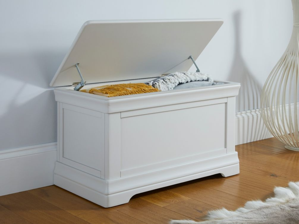 Toulouse Grey Painted Blanket Box