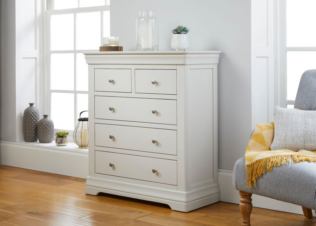 Toulouse Grey Painted 2 Over 3 Chest of Drawers