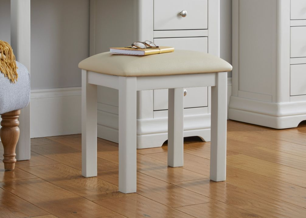 Toulouse Grey Painted Dressing Table Stool