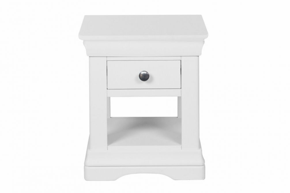 best sneakers 765d3 7dfac Toulouse White Painted 1 Drawer Bedside Table - AUTUMN SALE