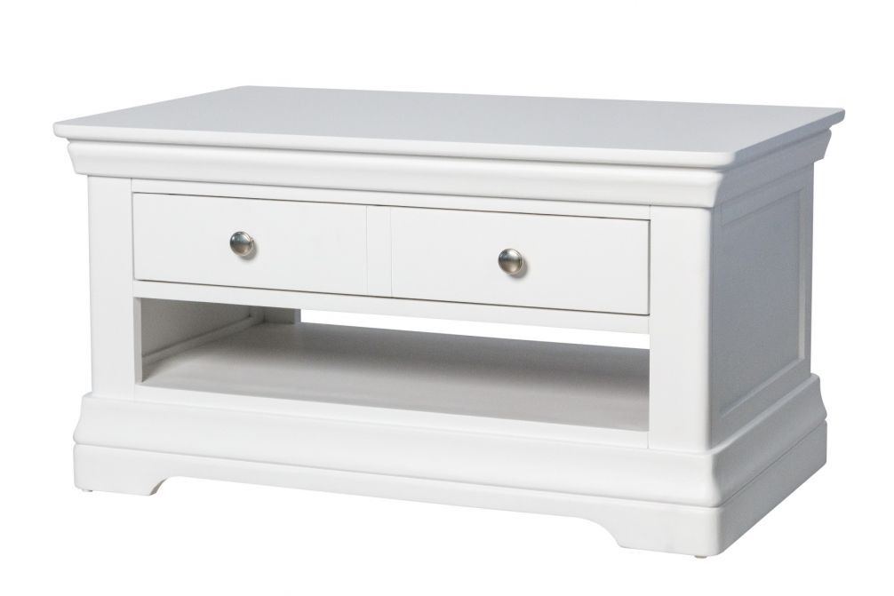 Toulouse White Painted Coffee Table 1 Drawer
