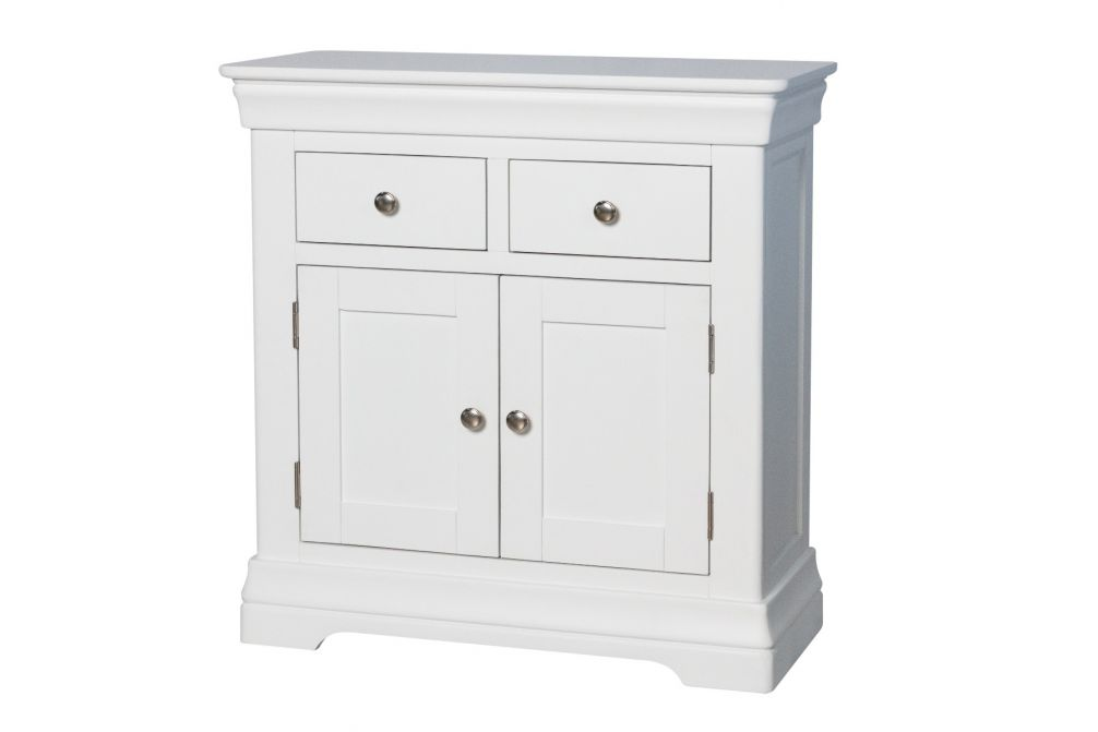 Toulouse 80cm White Painted Small Sideboard