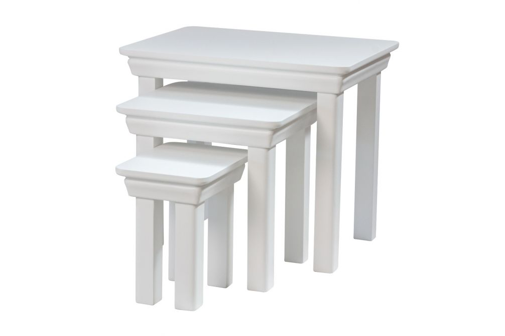 Toulouse White Painted Nest Of 3 Tables