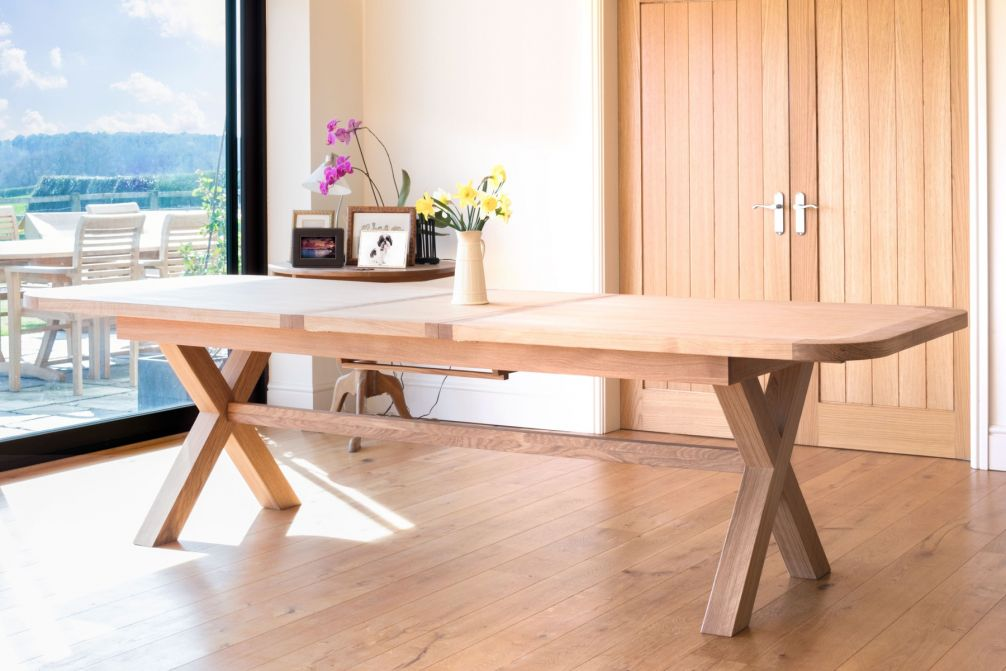 Surprising Provence 240Cm To 290Cm Oval Oak Table With Cross Legs Download Free Architecture Designs Scobabritishbridgeorg