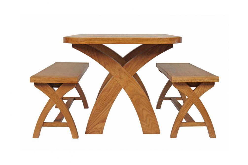 Enjoyable Country Oak 140Cm X Leg Oval Table And 2 1 2M X Leg Country Oak Benches Black Friday Sale Dailytribune Chair Design For Home Dailytribuneorg