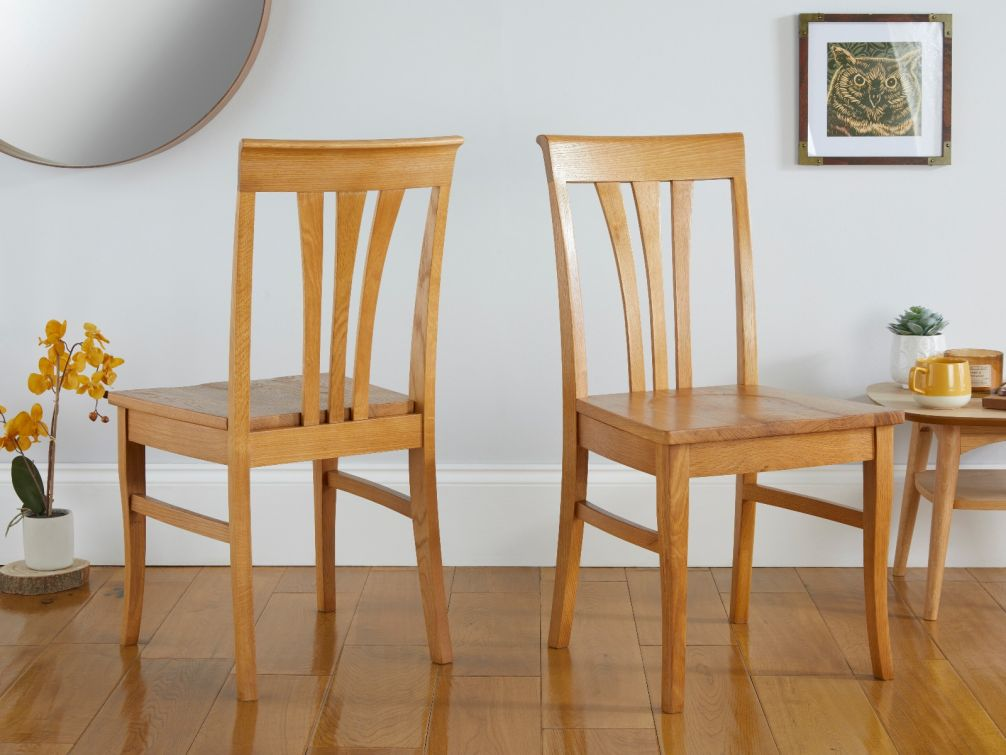 Victoria Solid Oak Dining Chairs
