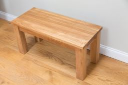 Baltic Premium 120cm Long Solid Oak Dining Bench Std Leg