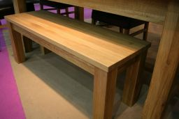 Baltic Premium 1.5m Long Solid Oak Bench (Std leg)