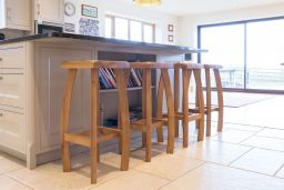 Bali Solid Oak Kitchen Bar Stool