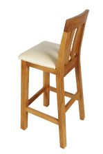 Billy Oak Kitchen Bar Stool Cream Leather