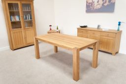 Cambridge 180cm Oak Dining Table To Seat 8 People