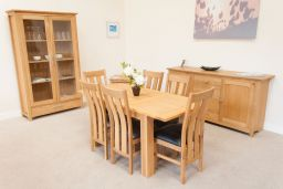 Caravella Oak 1.2m to 1.7m Butterfly Extending Dining Table