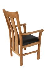 Churchill Brown Leather Oak Carver Dining Chair
