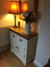 Country Oak Farmhouse 80cm Cream Painted Sideboard