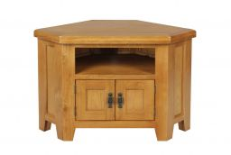 Country Oak 2 Door Corner TV Unit