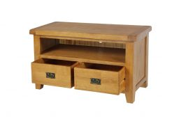 Country Oak 2 Drawer TV Unit