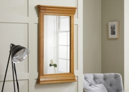 Farmhouse 100cm x 60cm Solid Oak Mirror
