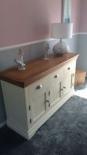 Customer photo 4 - Country Oak Farmhouse 140cm Cream Painted Sideboard