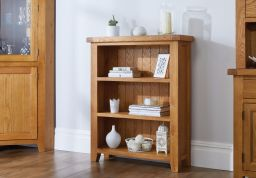 Country Oak Small Low Bookcase