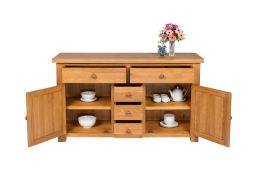 Country Cottage 140cm Medium Solid Oak Sideboard