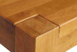 Country Oak Chunky 80cm Square Tall Corner Leg Breakfast Table