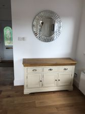 Customer photo 1 - Country Oak Farmhouse 140cm Cream Painted Sideboard