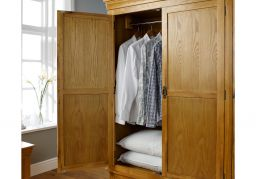 Farmhouse Country Oak Large Triple Oak Wardrobe