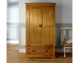 French Farmhouse Country Oak Double Oak Wardrobe