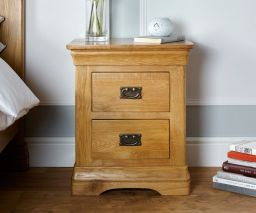 Farmhouse Country Oak Bedside Tables