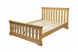 Farmhouse Country Oak Slatted 4ft 6 Inches Double Bed