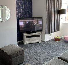 Toulouse Grey Painted Corner TV Unit with Drawer - customer photo 1