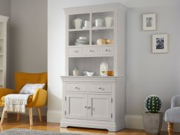 Toulouse Grey Painted 100cm Buffet and Hutch Dresser Display Unit