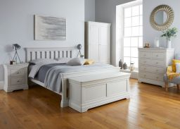 Toulouse grey painted bedside table bedroom room set photo