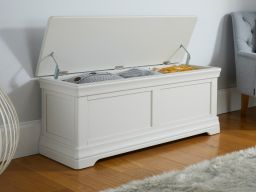 Toulouse Grey Painted Large Blanket Storage Box