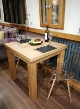 Lichfield 80cm Extending 160cm Square Flip Top Dining Table - customer dining room photo