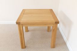 Lichfield Flip Top Square Oak Dining Table 90cm x 90cm 90cm x 180cm