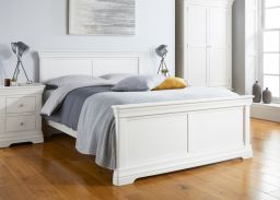 Toulouse White Painted Double Bed