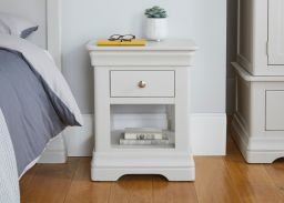 Toulouse White Painted 1 Drawer Bedside Table