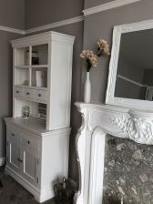 Toulouse White Painted 100cm Buffet and Hutch Dresser Display Unit - customer photo 3